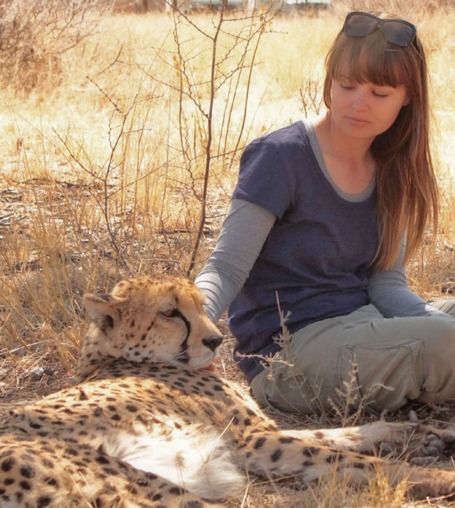 Cool picture Sarah and cheetah