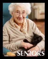 Senior Person with Cat