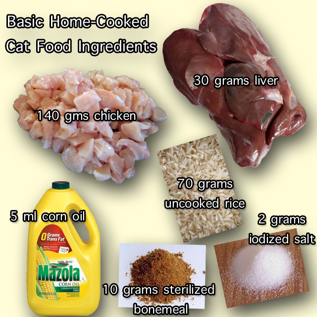 Cooked Homemade Cat Food Recipes