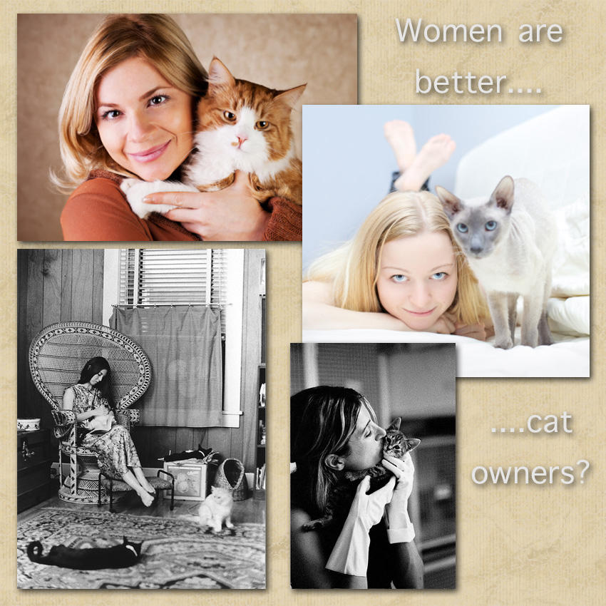 Women are better cat caretakers than men