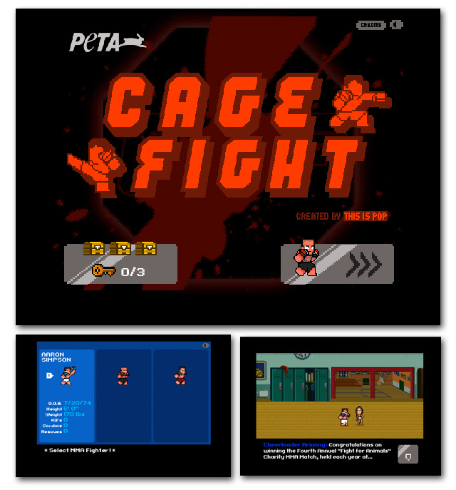 PETA Cage Fight Video Game