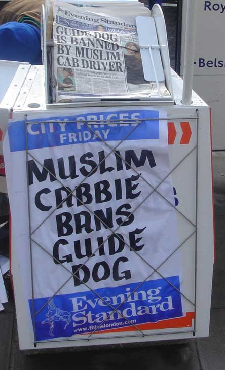 Muslims are unfair to dogs