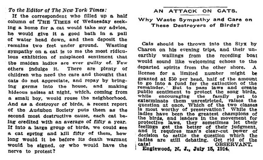 Cat hater 1914