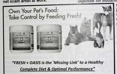 Raw cat food supplement