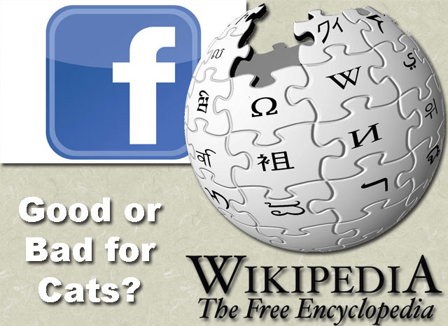 Are facebook and wikipedia good or bad for cats