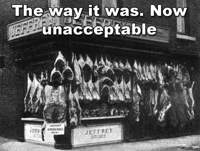Butchers shop 1900