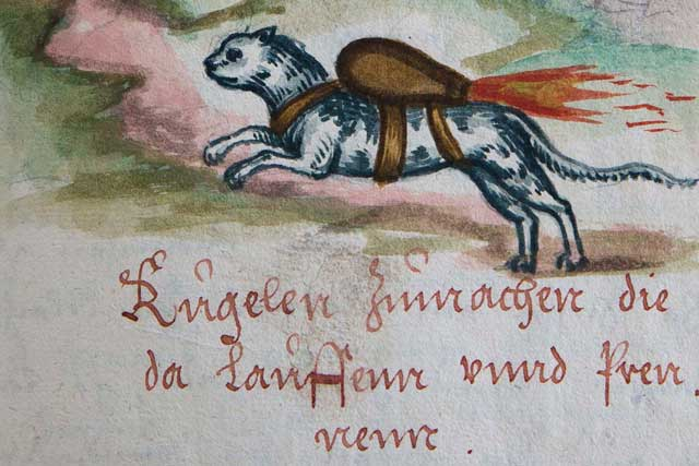 16th century rocket cat used in warfare