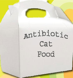 Antibiotic cat food