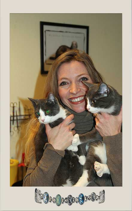 Vet with her cats