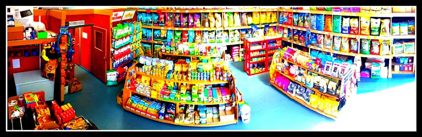 Pet food in a store in the UK
