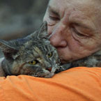 cat survives California wildfire