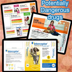 Potentially dangerous insecticides for cats
