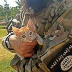 ISIS terrorist and kitten