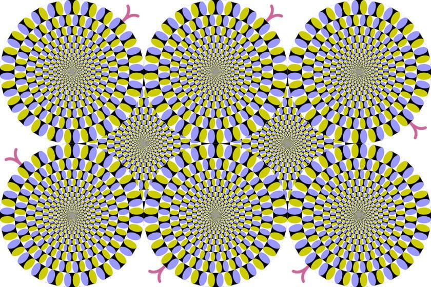 Optical illusion snakes