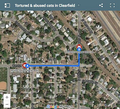 Clearfield, Utah, cat abuse map
