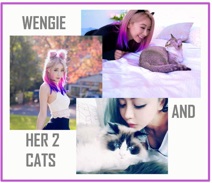 Wengie and her two cats