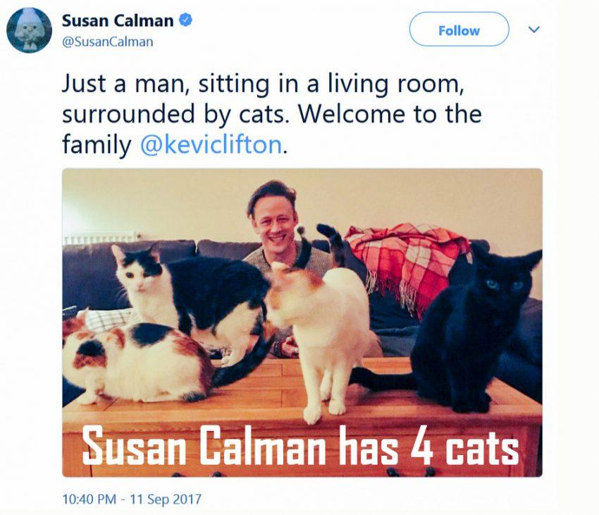 Susan Calman has four cats