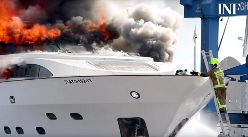 Cat Rescued From Burning Luxury Yacht
