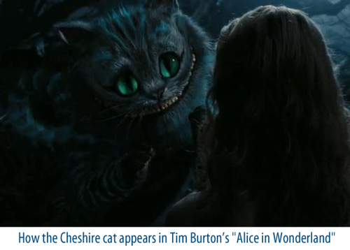 Cheshire cat from Tim Burton's Alice in Wonderland
