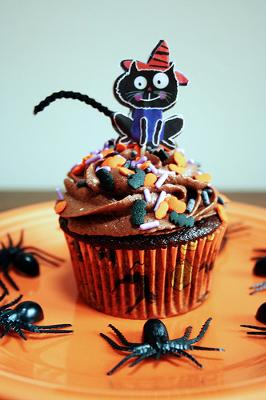 Chocolate Cupcake with Cat on Top - Photo by freakgirl