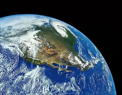 Our World. Nature is bigger than us. Photo NASA, restored by Royce Bair (Flickr)