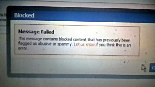 Blocked video message from Facebook