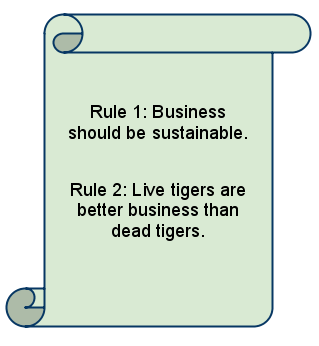 live tigers are better business than dead tigers
