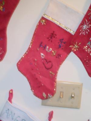 Crochet Pattern Central Christmas Stockings : CAT CHRISTMAS STOCKINGS Santa Claus and Christmas