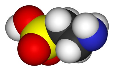 Taurine, or 2-aminoethanesulfonic acid - Wikimedia Commons file - user:Benjah-bmm27
