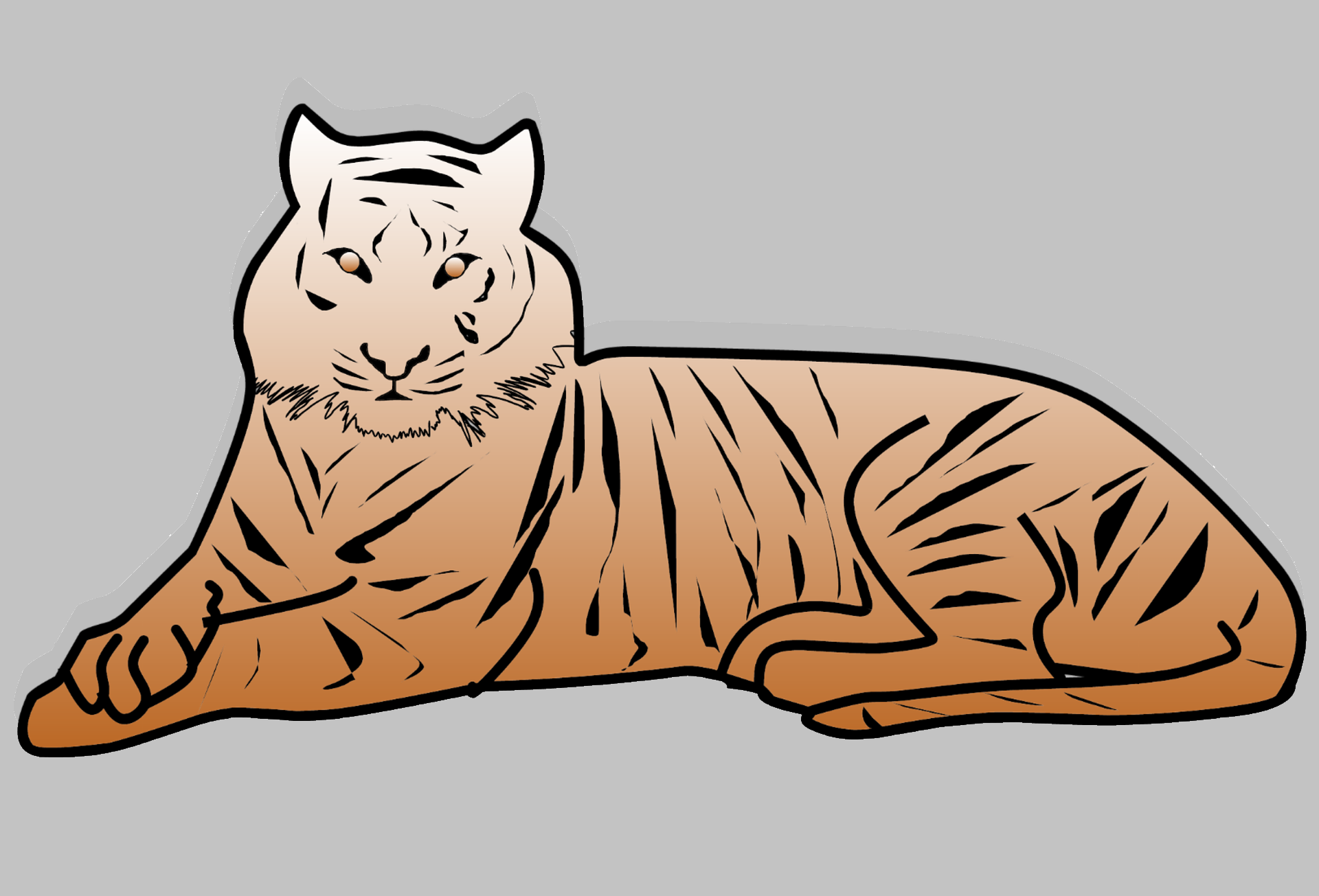 Free tiger clipart from Pixabay