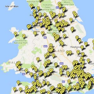 Map of animal rescue centres UK