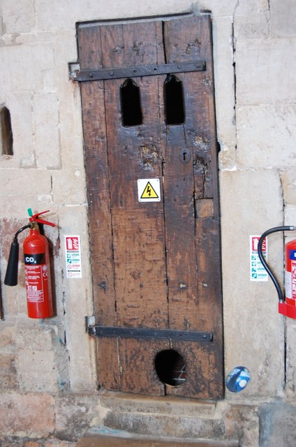 Earliest existing cat flap Exeter, UK