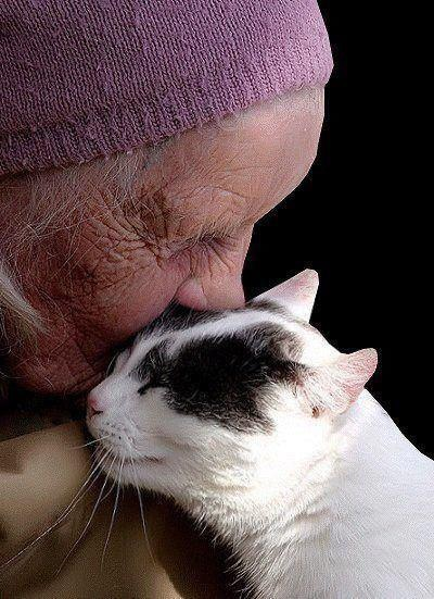 Old Lady and Cat