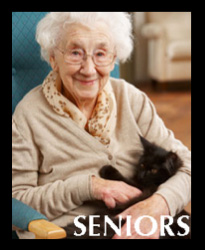Senior Person with Cat