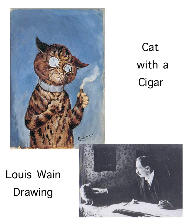 Cat with a Cigar by Louis Wain