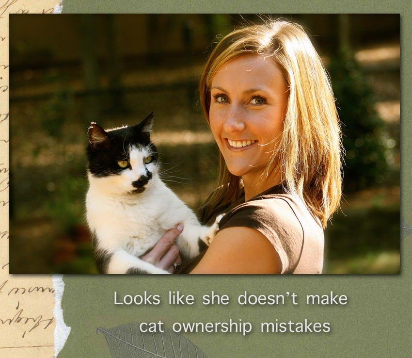 Cat owner and cat