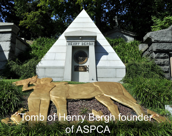 Tomb of Henry Bergh Founder ASPCA