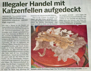 Swiss fur trade banned