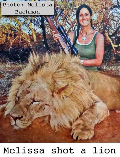 Melissa shot a lion in Africa