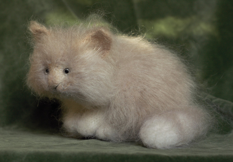 Mohair stuffed kitten