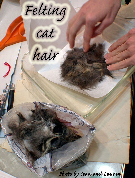 Putting loose cat hair to use
