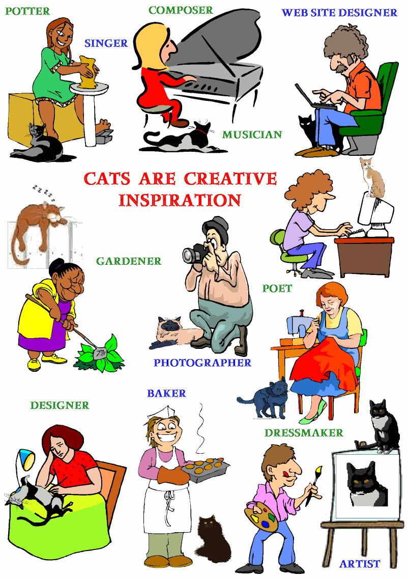 Cat lovers are creative people