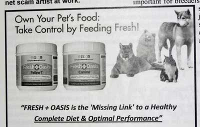 Raw cat food supplement