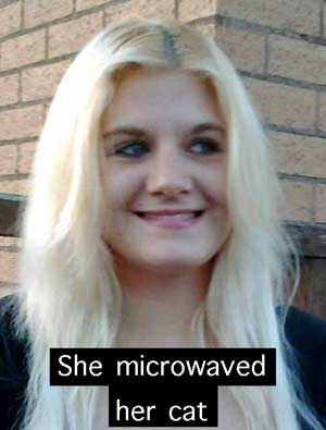 Woman who microwaved her cat