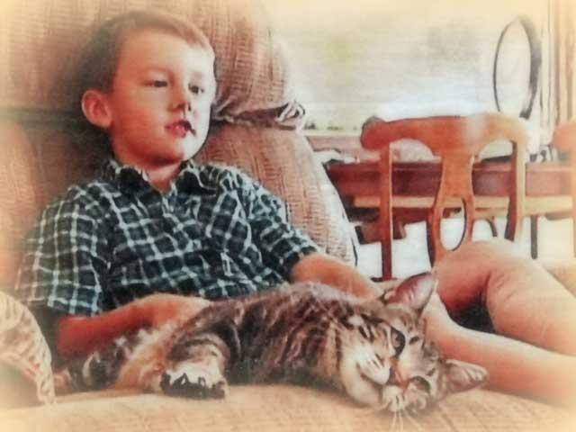 Jeremy and Lara---cat saves boy