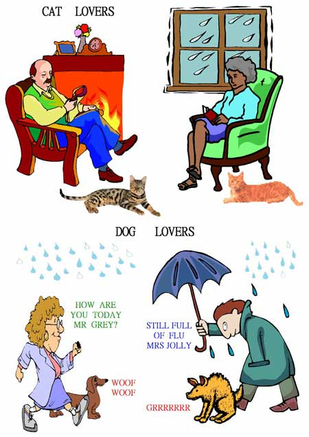 Cat and dog lovers poster by Ruth