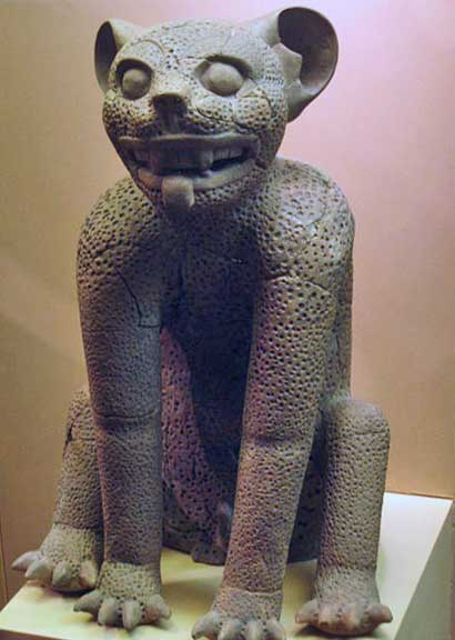 Ancient jaguar sculpture x