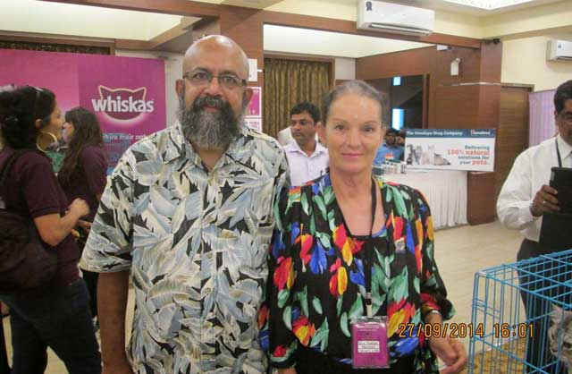 Myself and Petra Muller (President of Middle East cat association -MECATS)