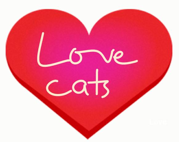 Love cats symbol