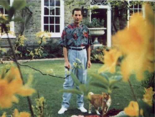 Oscar with Freddie Mercury spring 1991